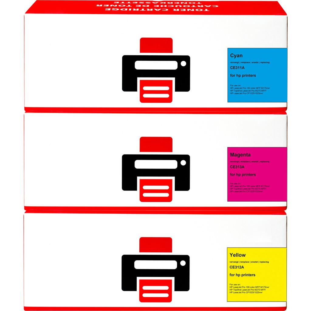 Pixeljet 126A Toner 3-Kleuren voor HP printers (CF341A)