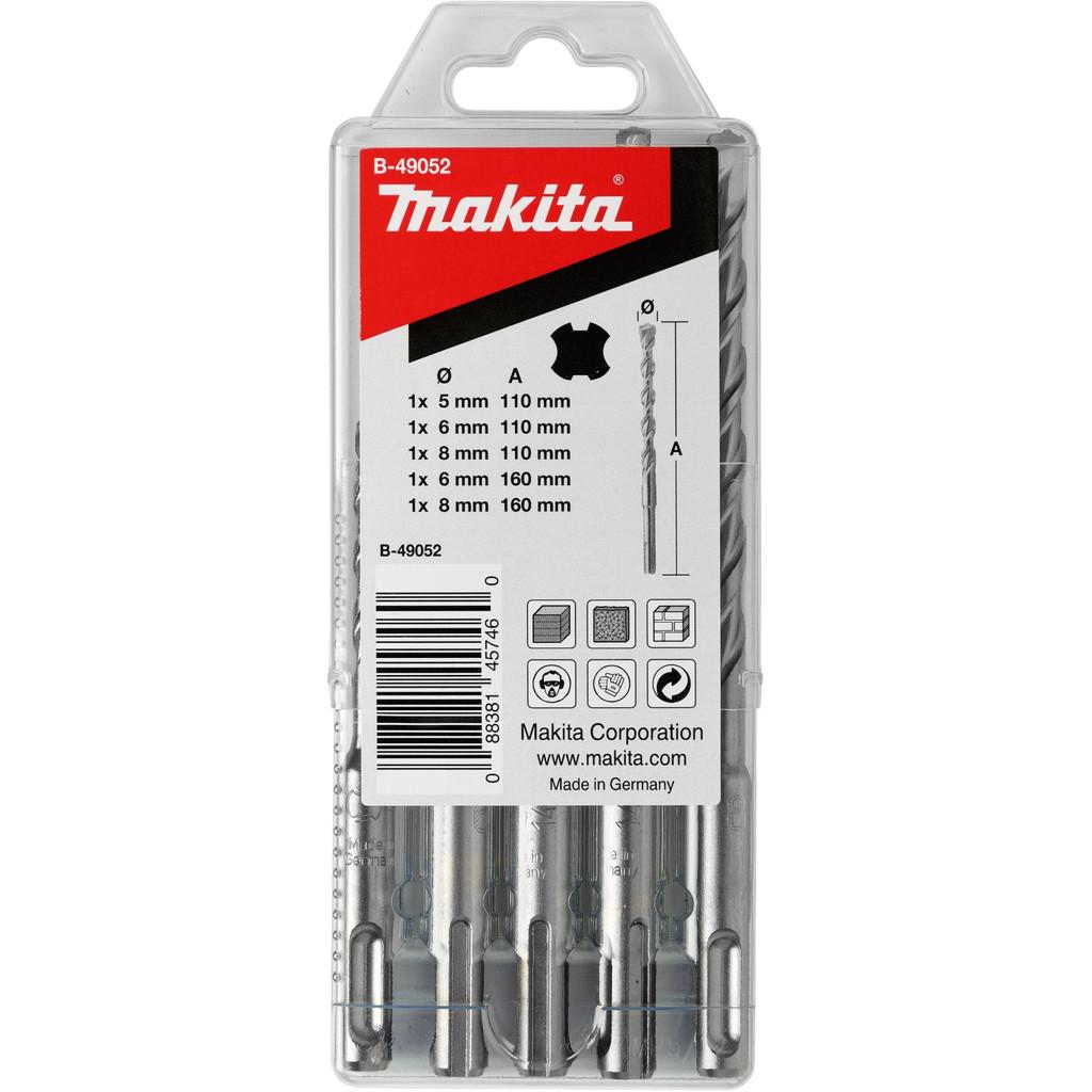 Makita 5-delige SDS-Plus borenset B-49052
