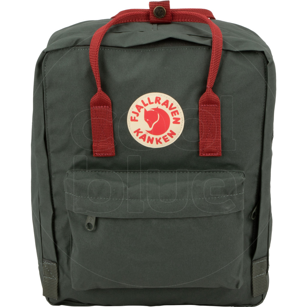 Fjällräven Kånken Forest Green/Ox Red 16L