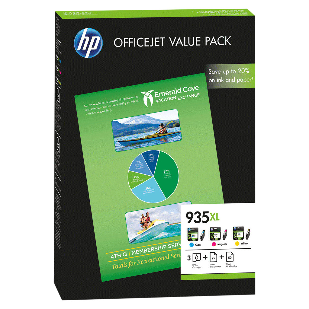HP 935XL Value Pack (F6U78AE)