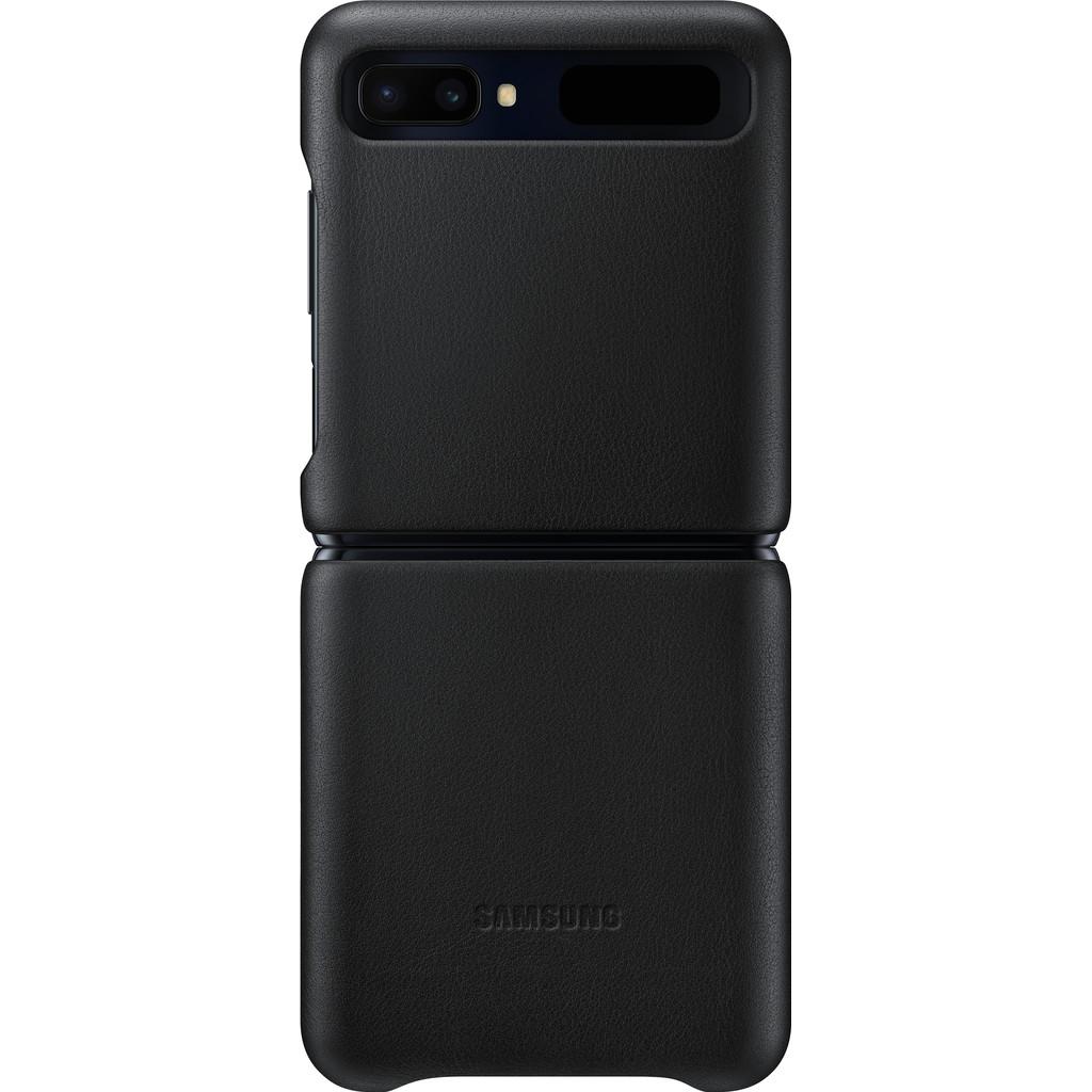 Samsung Galaxy Z Flip Back Cover Leer Zwart