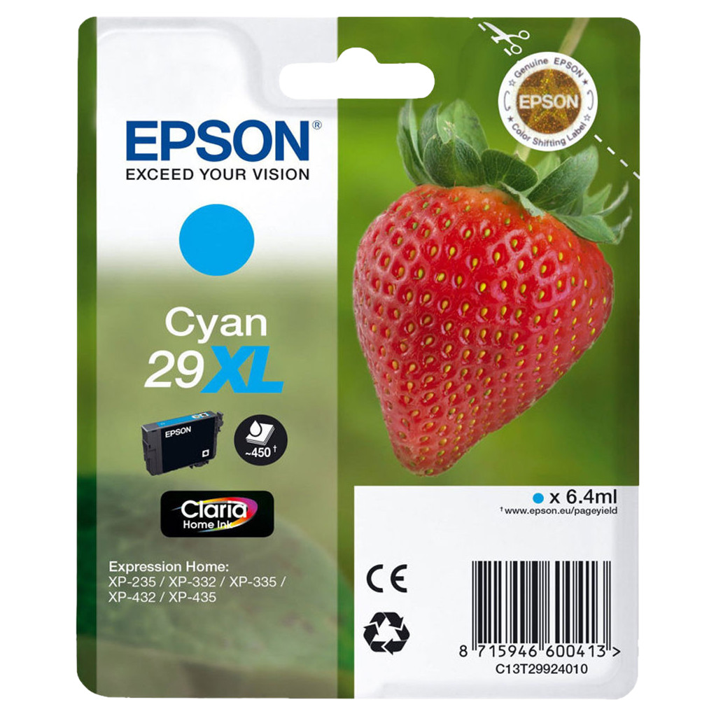 Epson 29 Cartridge Cyaan XL (C13T29924010)