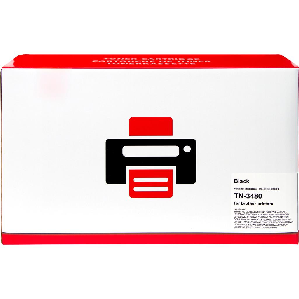Pixeljet TN-3480 Toner Zwart voor Brother printers