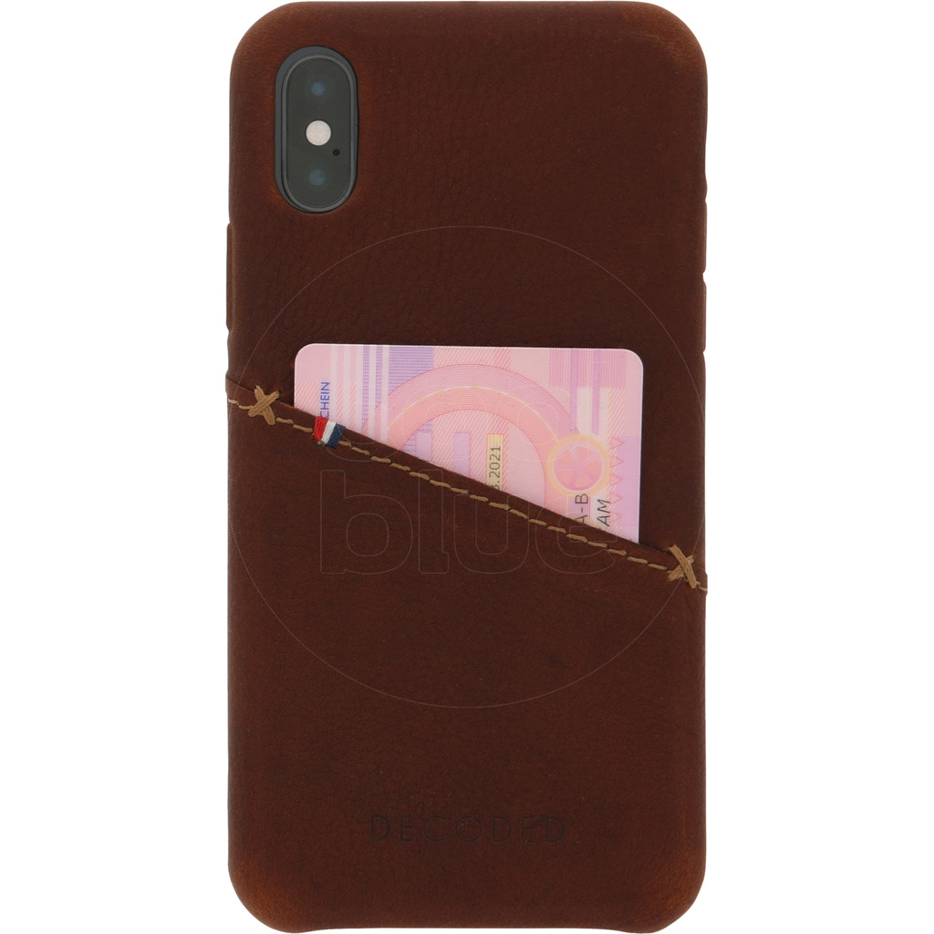Decoded Leather Apple iPhone X/Xs Back Cover Bruin