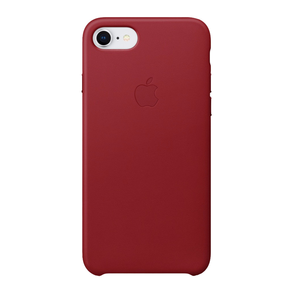 Apple iPhone 7/8 Leather Back Cover Rood