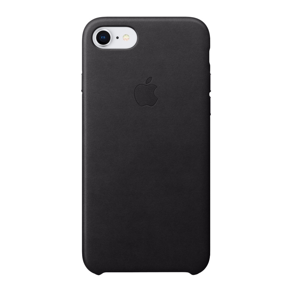 Apple iPhone 7/8 Leather Back Cover Zwart