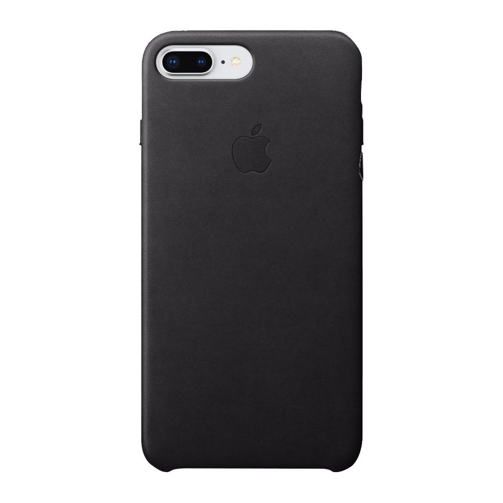 Apple iPhone 7 Plus/8 Plus Leather Back Cover Zwart