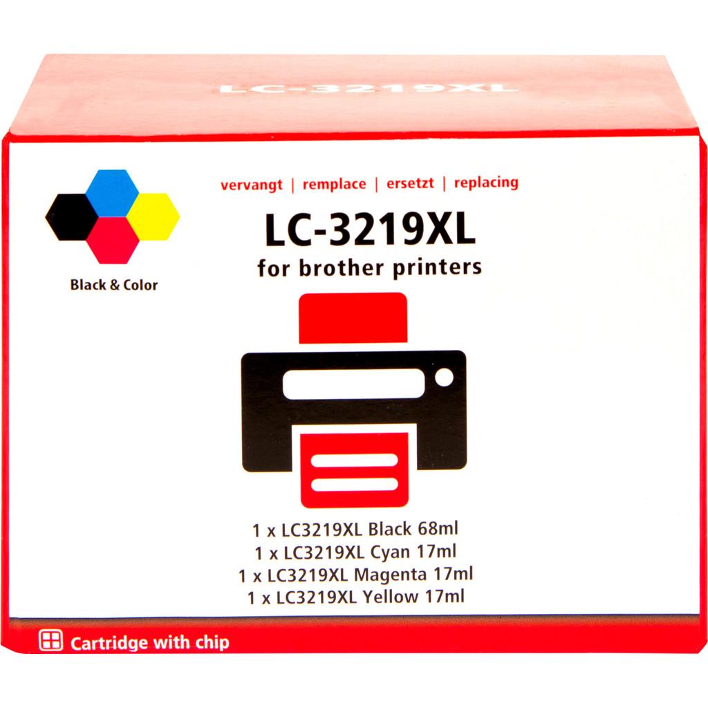 Pixeljet LC-3219XL 4-Kleuren Pack voor Brother (LC-3219XL)