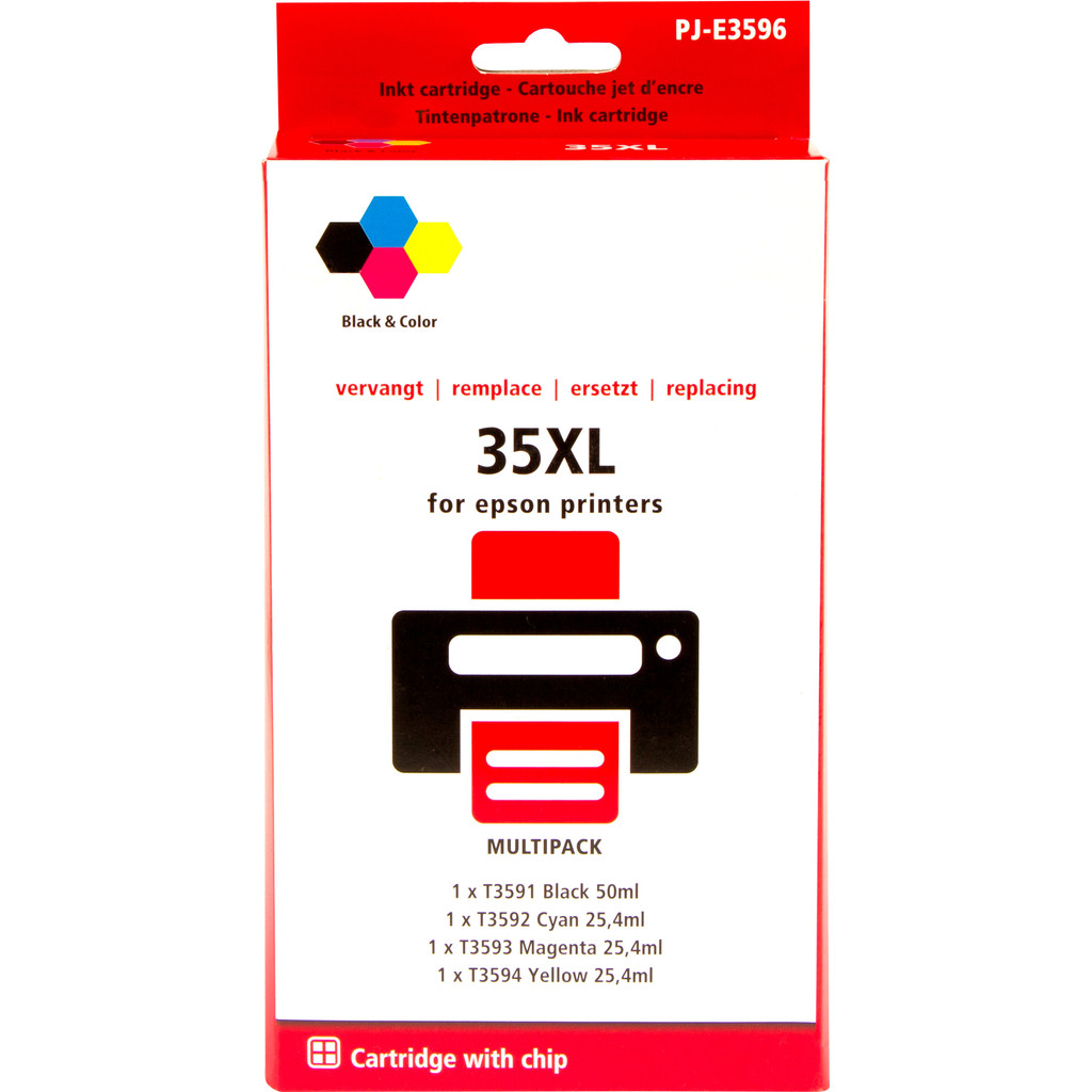 Pixeljet 35XL 4-Kleuren Pack voor Epson (C13T35864010)