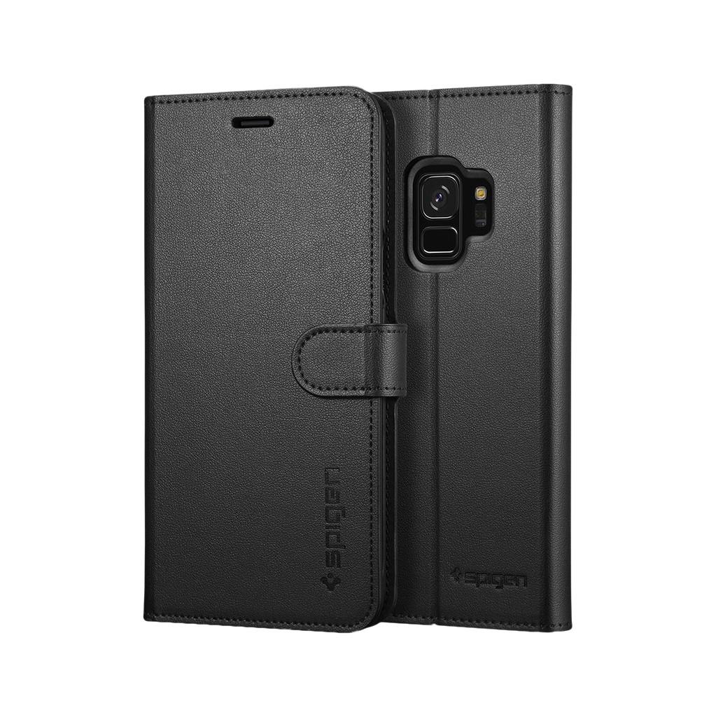 Spigen Wallet S Samsung Galaxy S9 Book Case Zwart