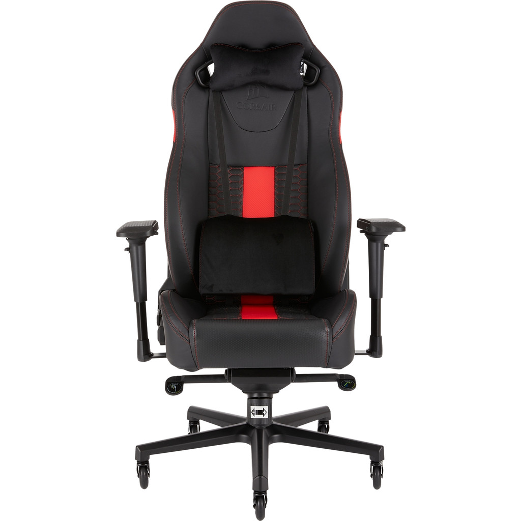 Corsair T2 Road Warrior Gaming Chair Zwart/Rood