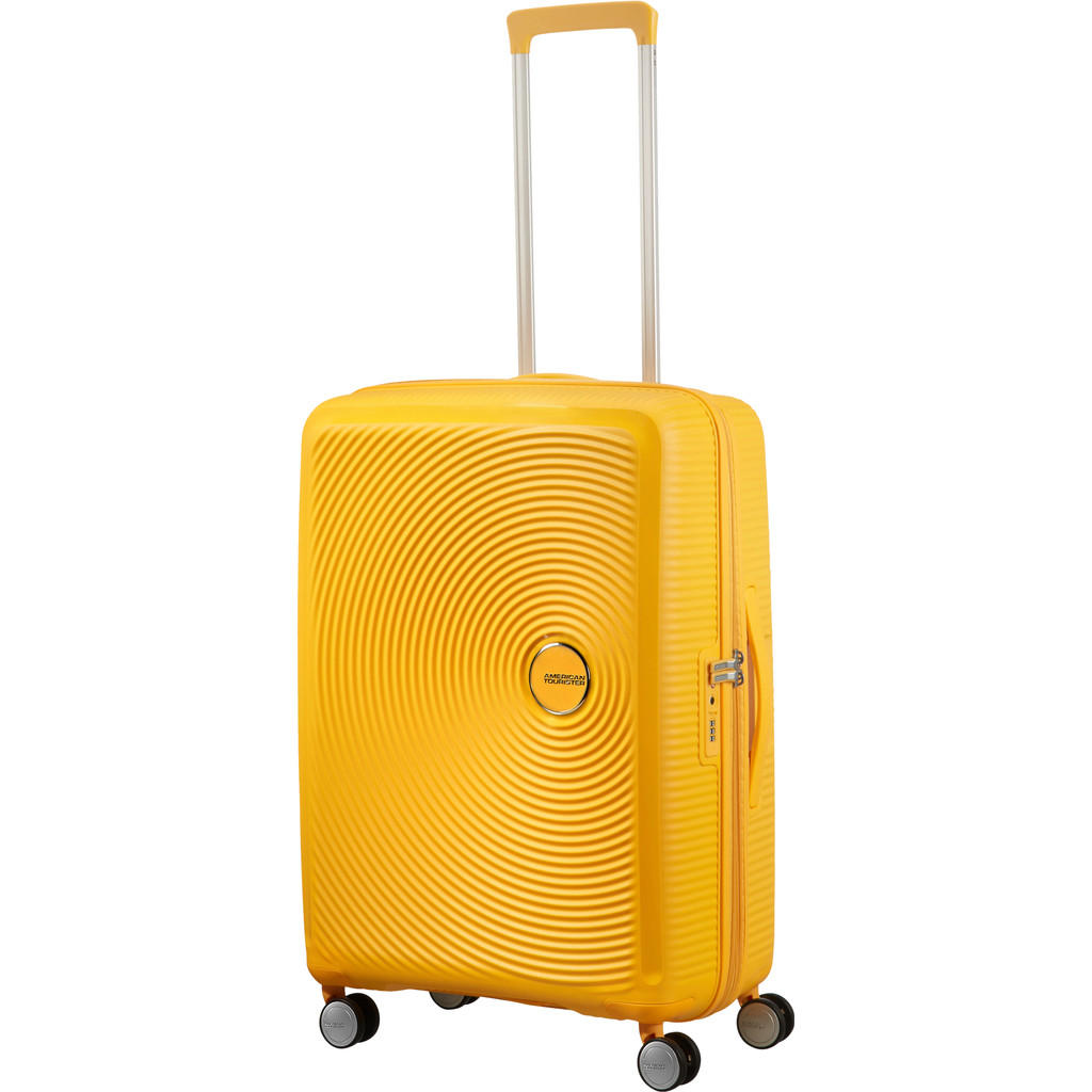 American Tourister Soundbox Expandable Spinner 67cm Golden Yellow