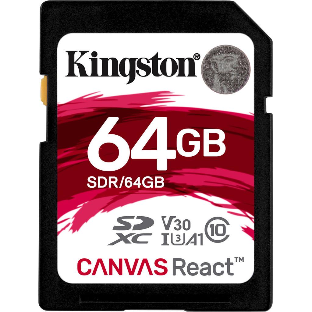 Kingston SDXC Canvas React 64GB 100 MB/s