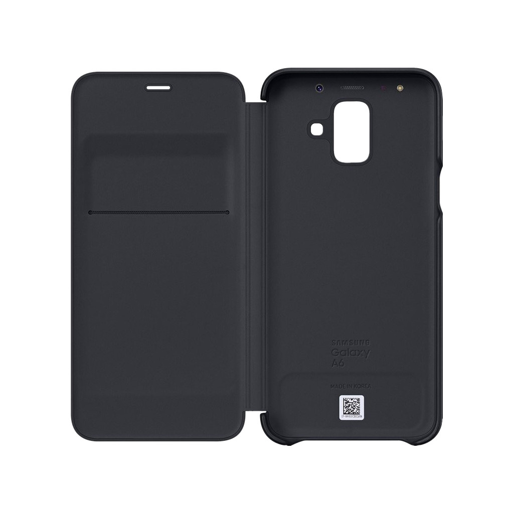 Samsung Galaxy A6 (2018) Wallet Cover Book Case Zwart