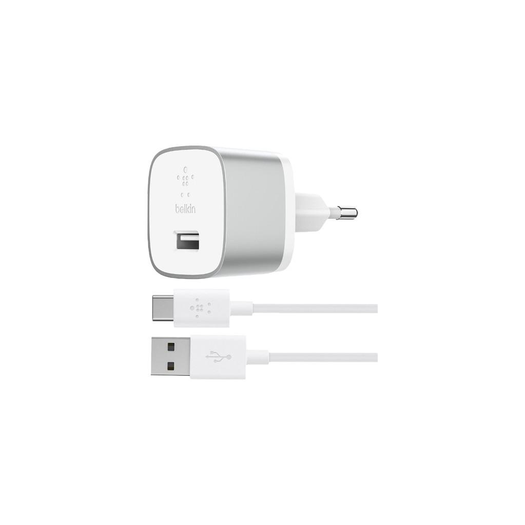 Belkin Oplader met Usb C Kabel 18 Watt Quick Charge 3.0 Wit