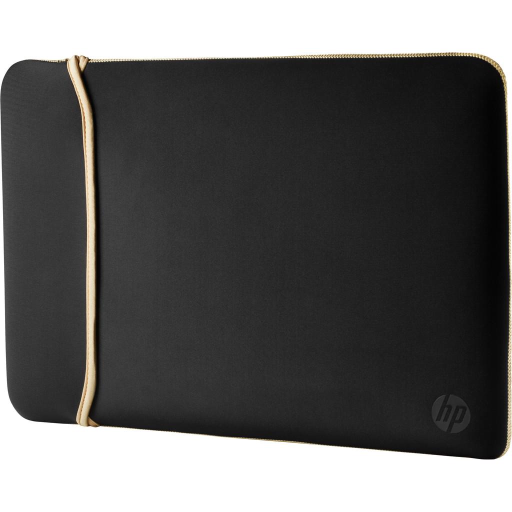 """HP 15.6"""" Reversible Sleeve Zwart/Goud"""