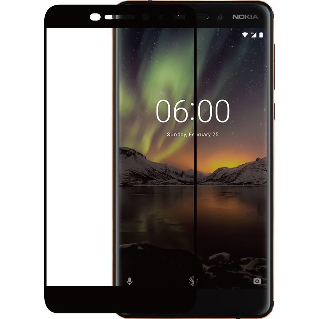 Azuri Nokia 6 (2018) Screenprotector Gehard Glas Zwart