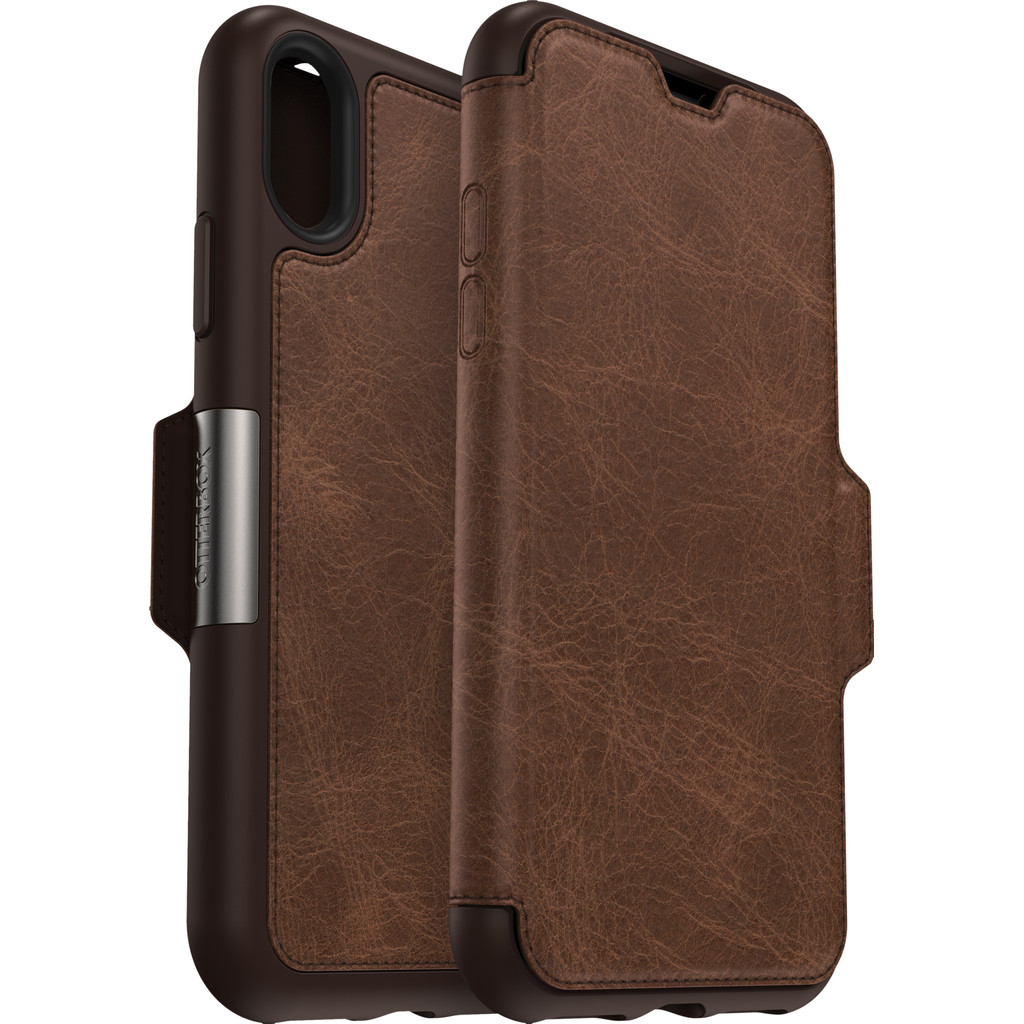 Otterbox Strada Apple iPhone Xs Book Case Bruin