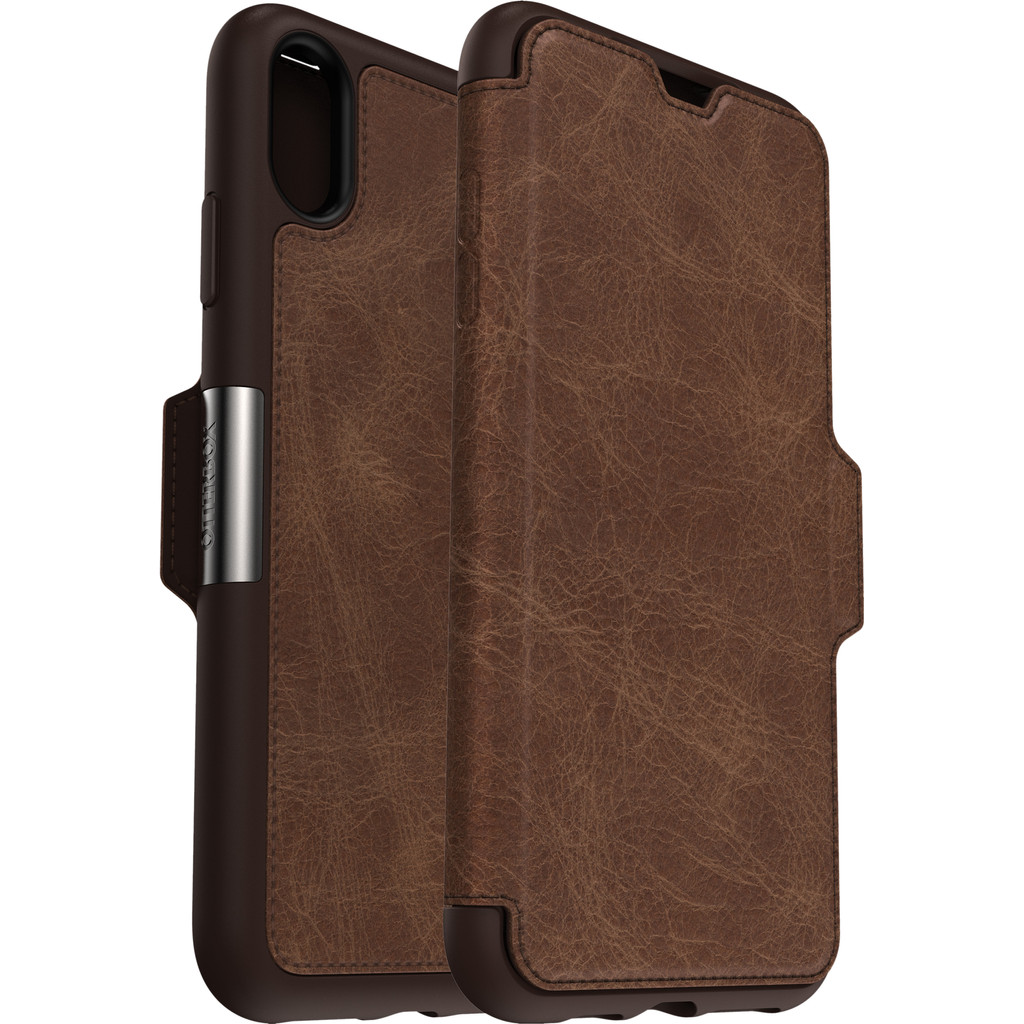 Otterbox Strada Apple iPhone Xs Max Book Case Bruin
