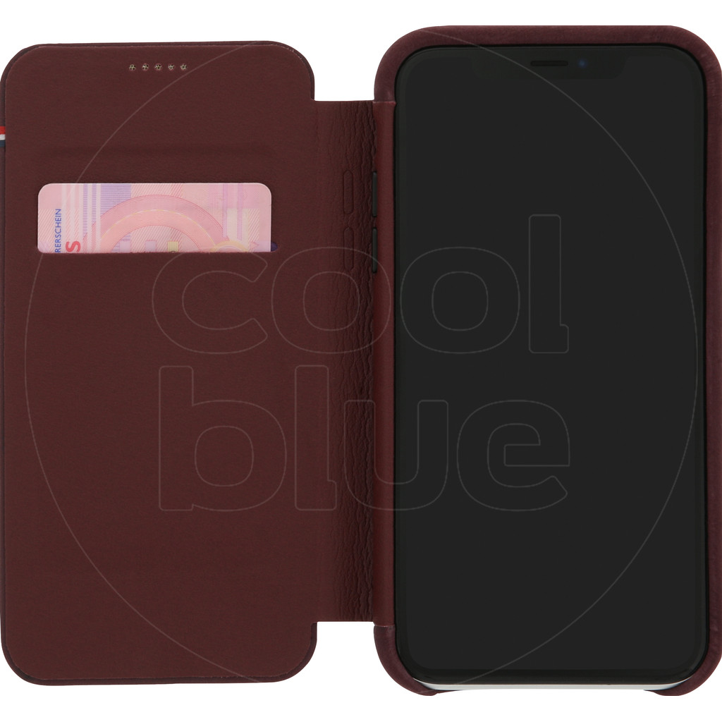 Decoded Leather Slim Wallet Apple iPhone Xr Book Case Rood