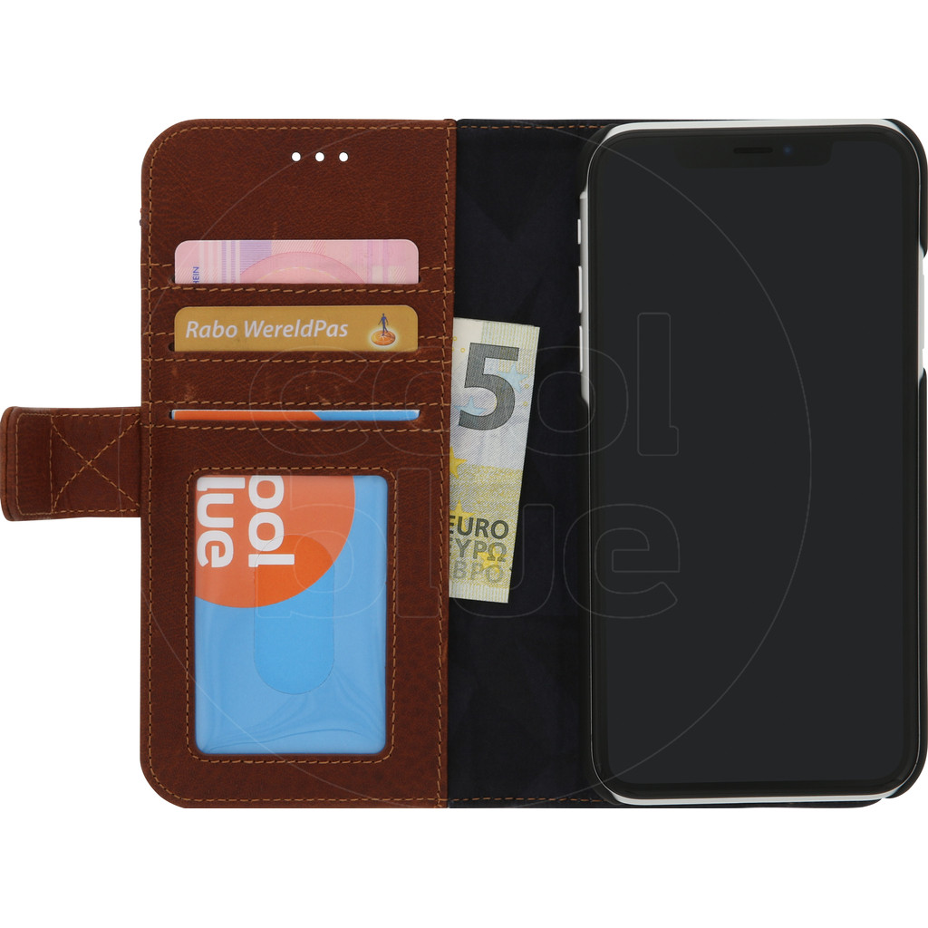 Decoded 2-in-1 Leather Wallet Apple iPhone Xr Book Case Bruin