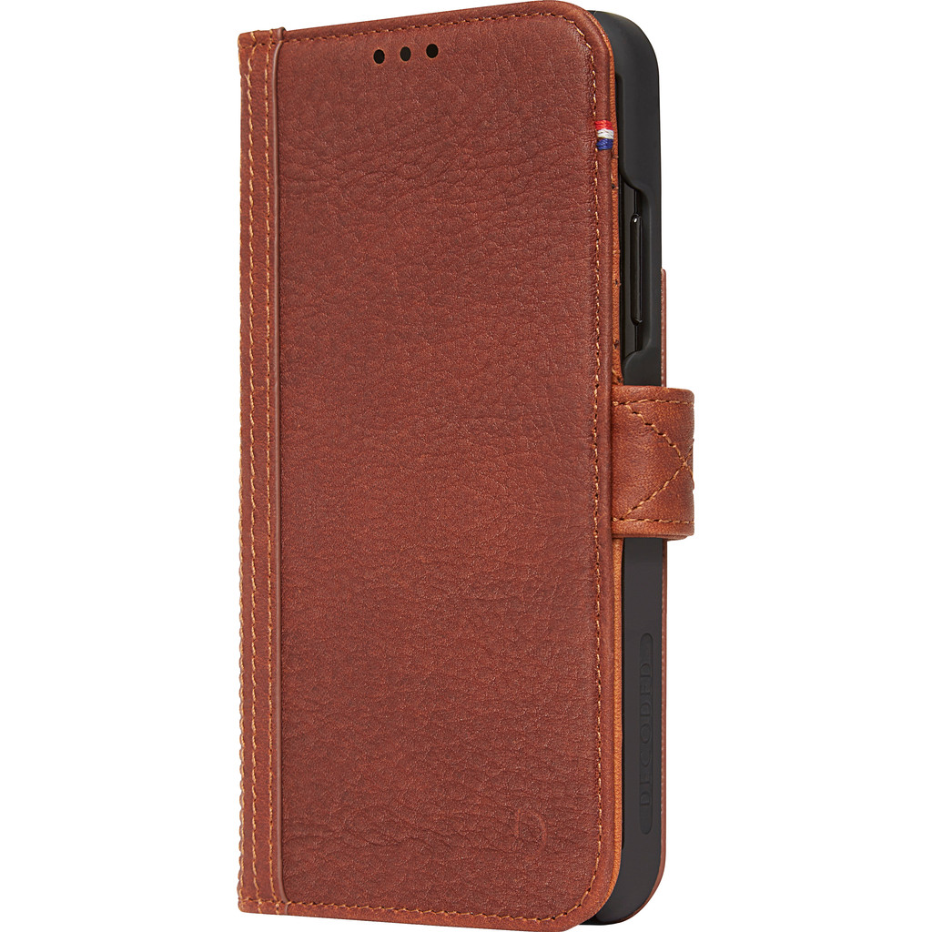Decoded Leather Card Wallet Apple iPhone Xs Max Book Case Bruin