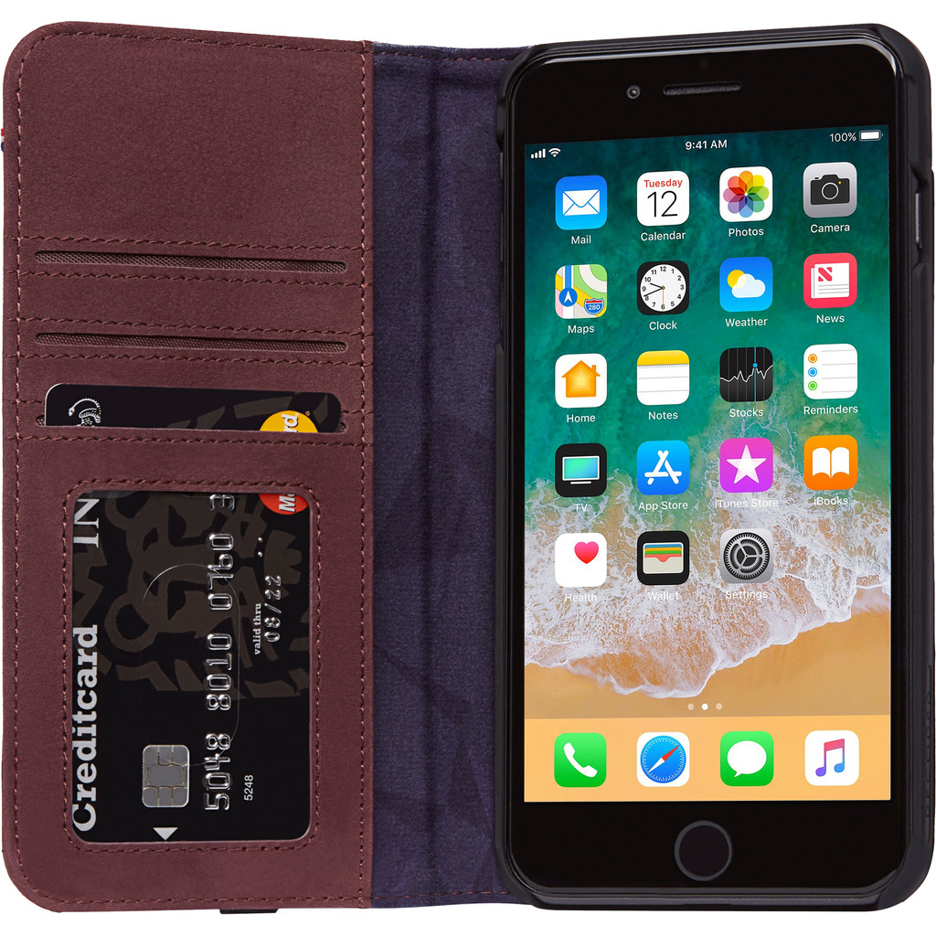 Decoded Leather Wallet Case iPhone 8 Plus/ 7Plus Rood