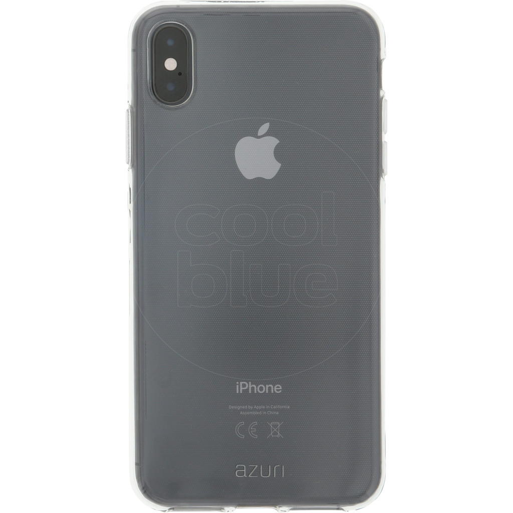 Azuri TPU Apple iPhone Xs Max Back Cover Transparant