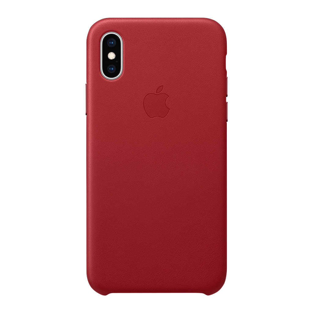 Apple iPhone Xs Leather Back Cover RED