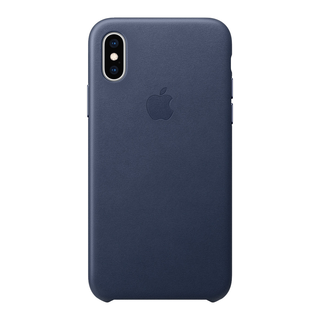 Apple iPhone Xs Max Leather Back Cover Middernachtblauw