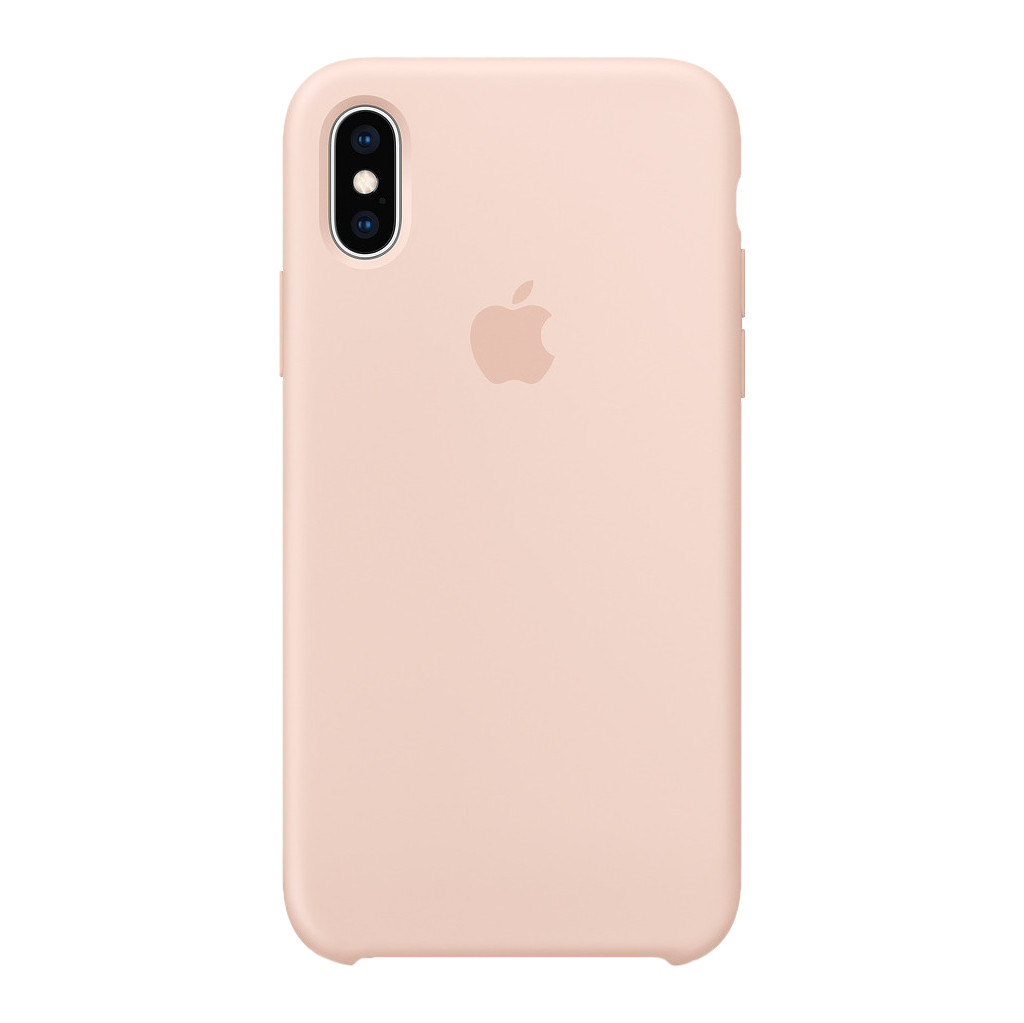 Apple iPhone Xs Silicone Case Rozenkwarts
