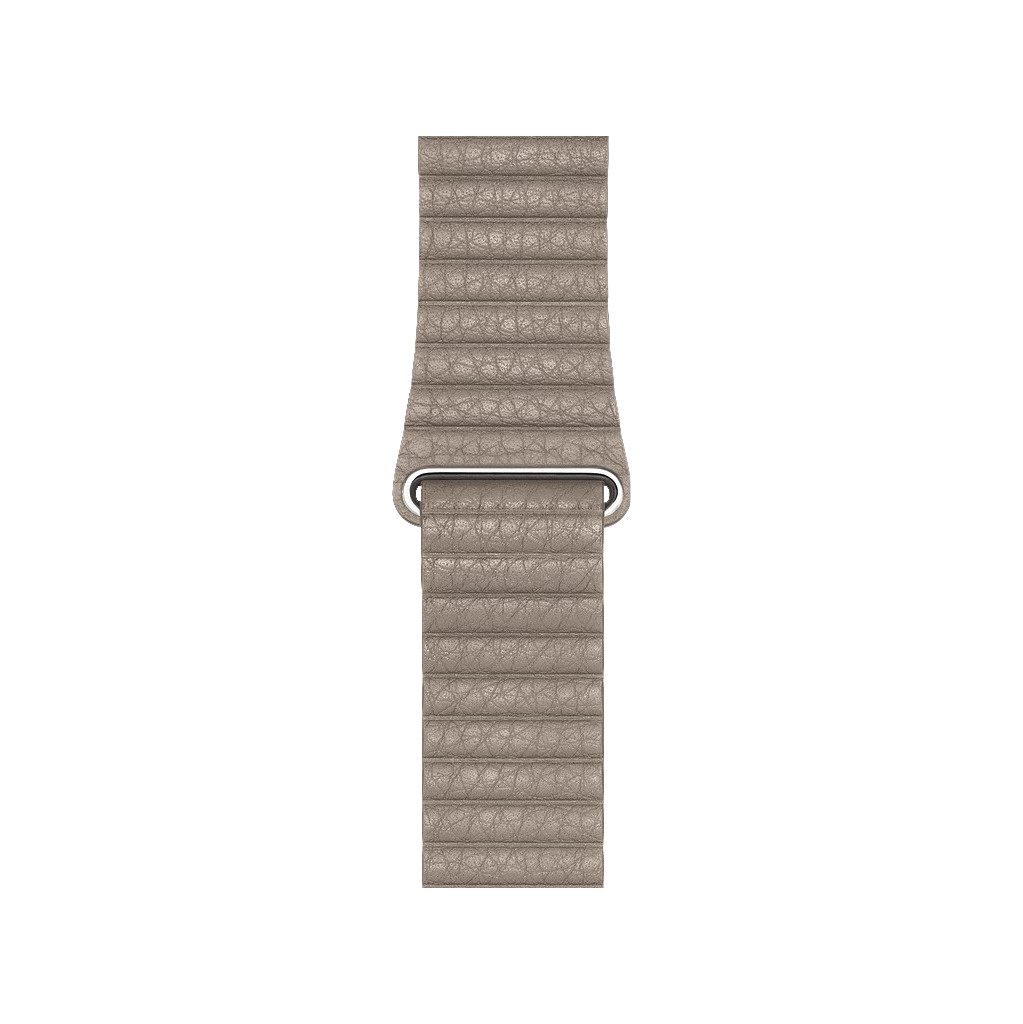 Apple Watch 44mm Leren Horlogeband Steengrijs Medium