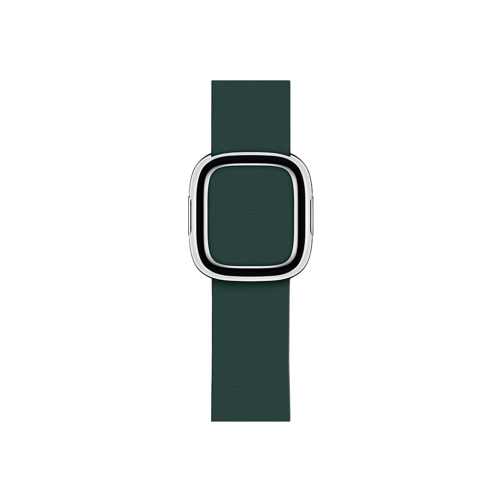 Apple Watch 40mm Modern Leren Horlogeband Bosgroen - Small