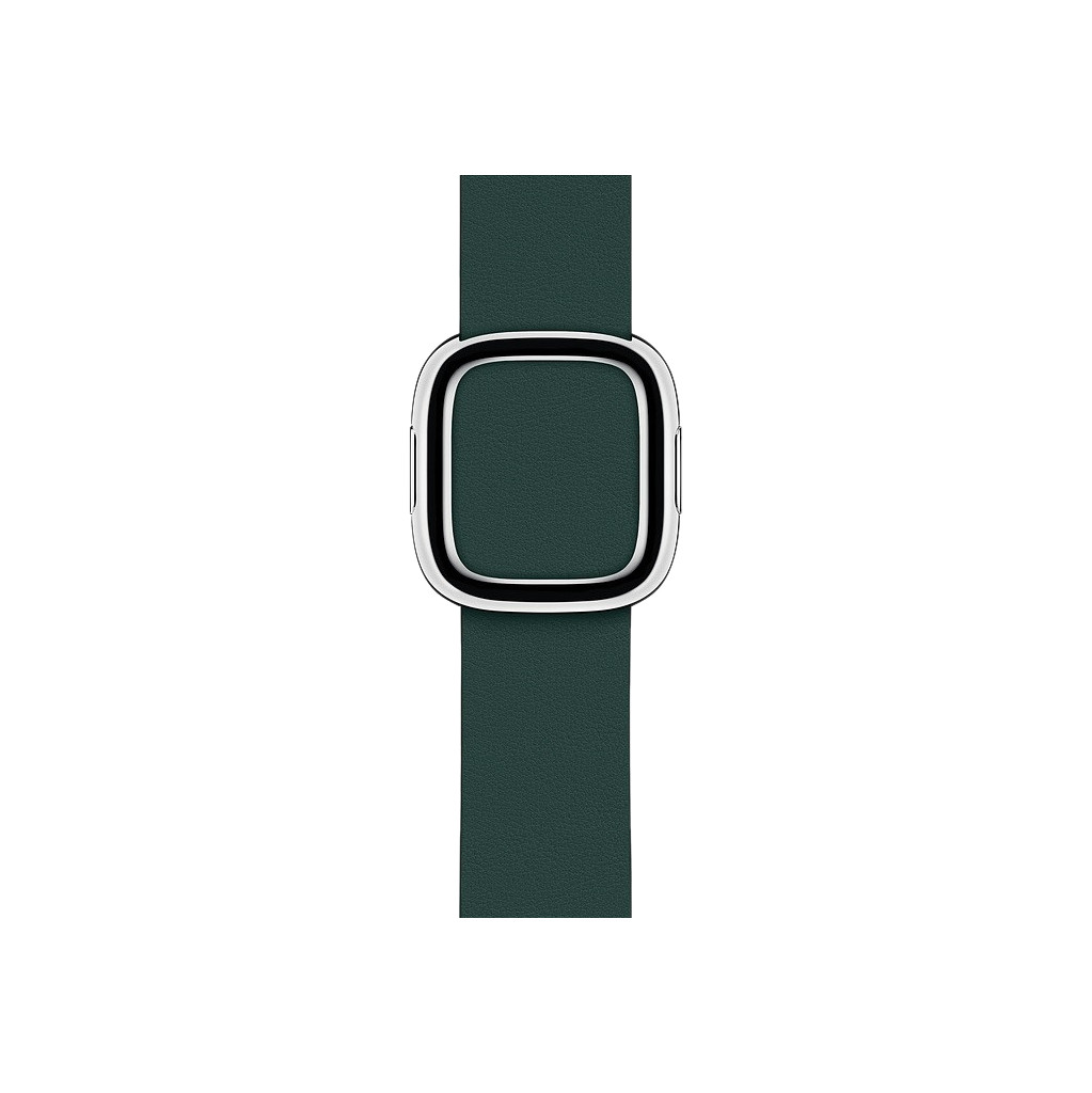 Apple Watch 40mm Modern Leren Horlogeband Bosgroen - Large