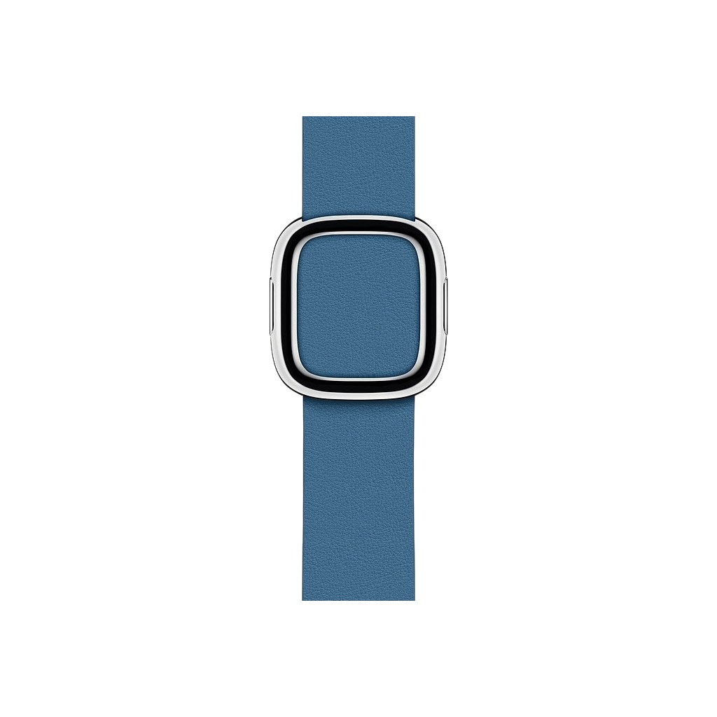 Apple Watch 40mm Modern Leren Horlogeband Cape Cod Blauw - Medium