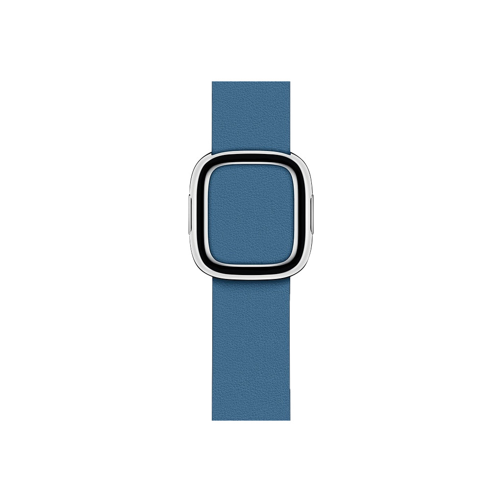 Apple Watch 40mm Modern Leren Horlogeband Cape Cod Blauw - Large