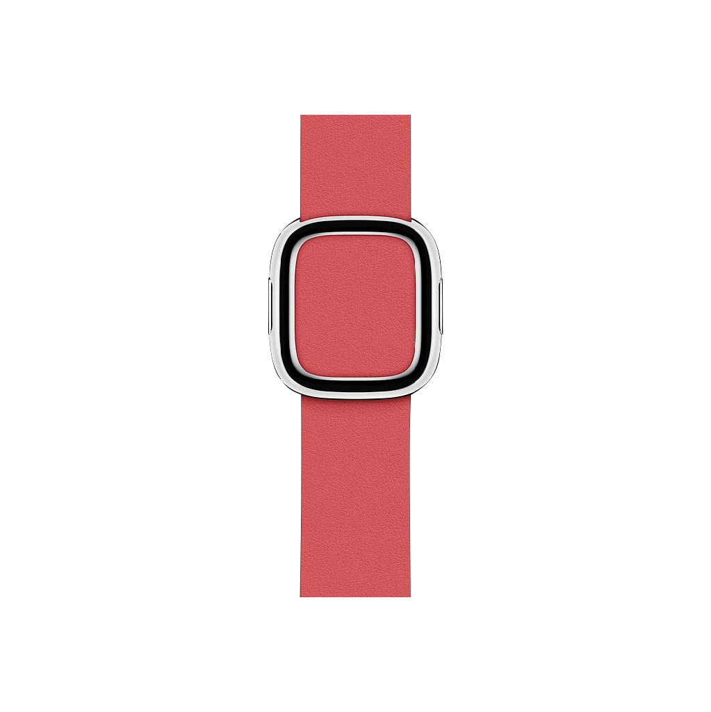 Apple Watch 40mm Modern Leren Horlogeband Pioen - Small