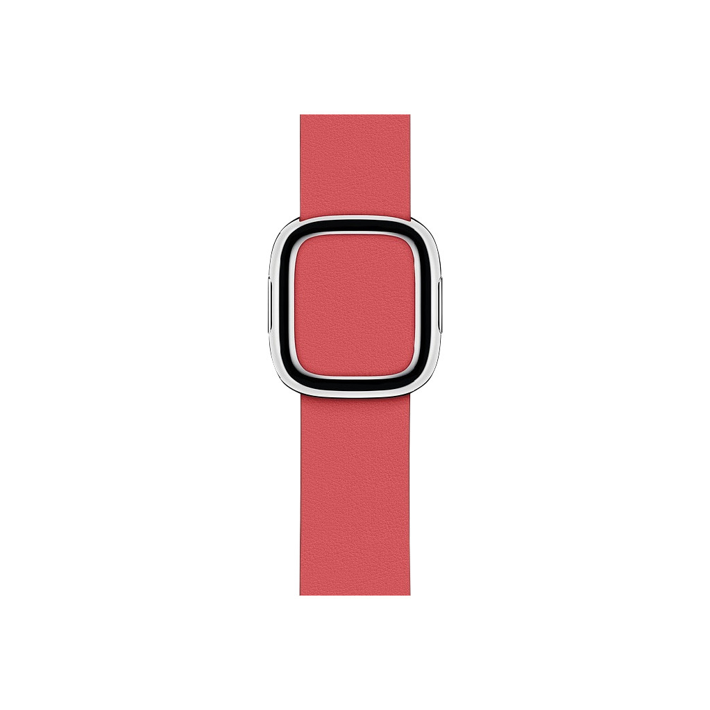 Apple Watch 40mm Modern Leren Horlogeband Pioen - Medium