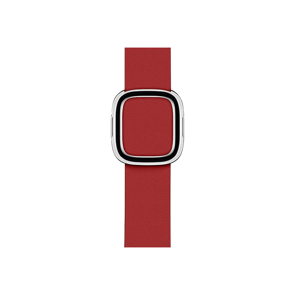Apple Watch 40mm Modern Leren Horlogeband RED - Small