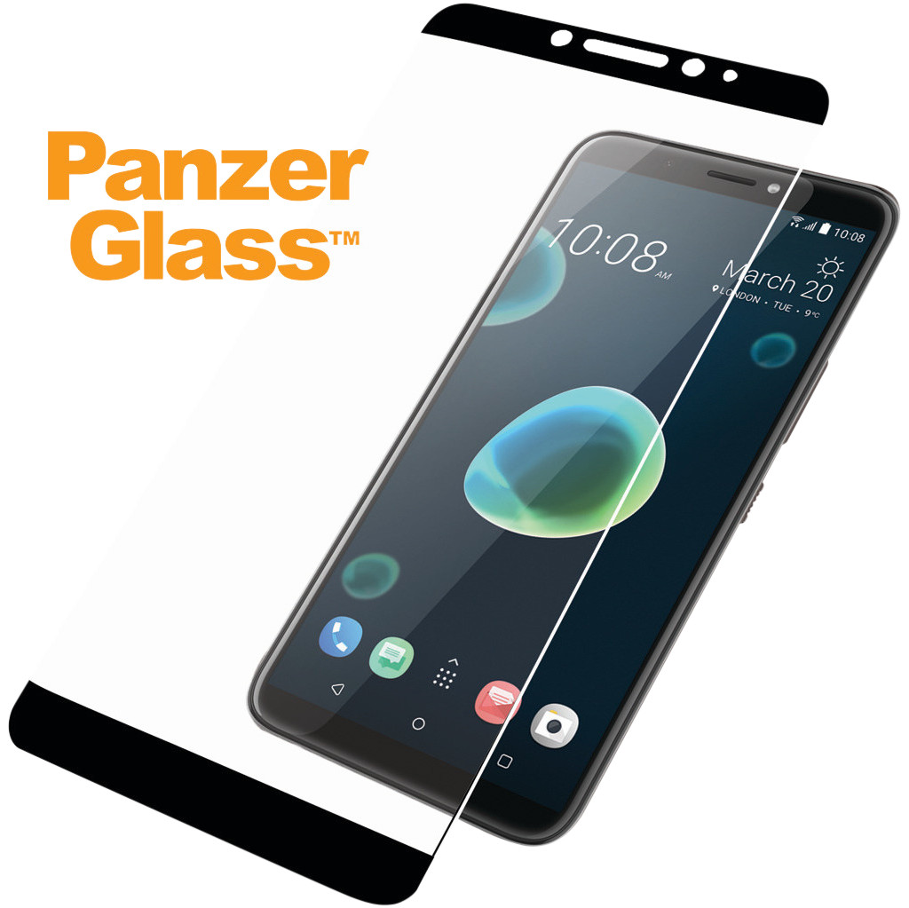PanzerGlass HTC Desire 12 Screenprotector Glas Zwart