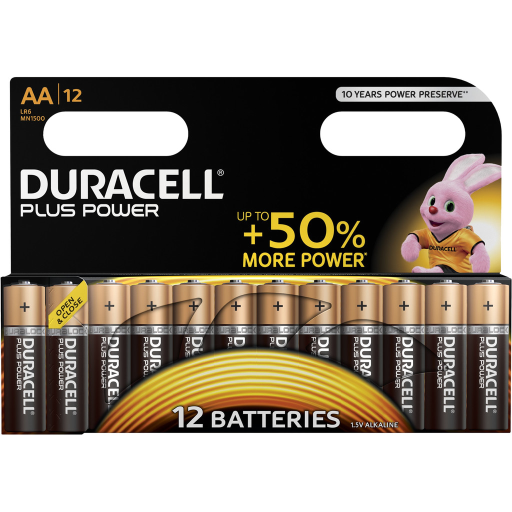 Duracell Plus Power alkaline AA-batterijen 12 stuks