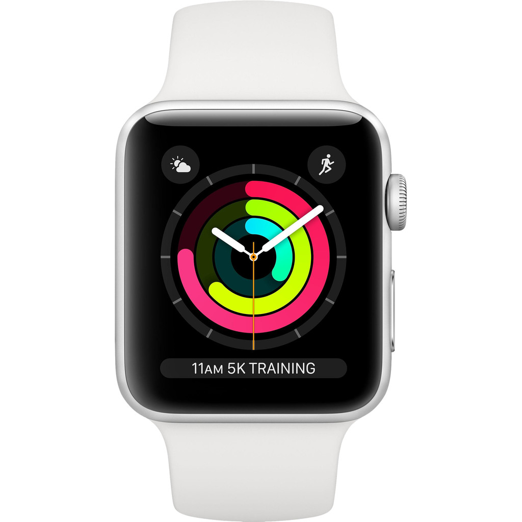 Apple Watch Series 3 38mm Silver Aluminium/Wit