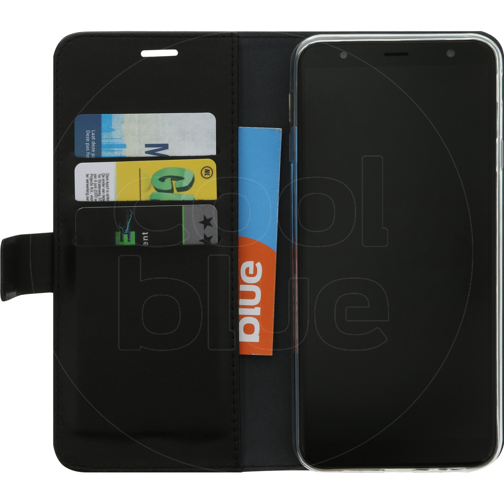 Azuri Wallet Magneet Samsung Galaxy J4 Plus Book Case Zwart