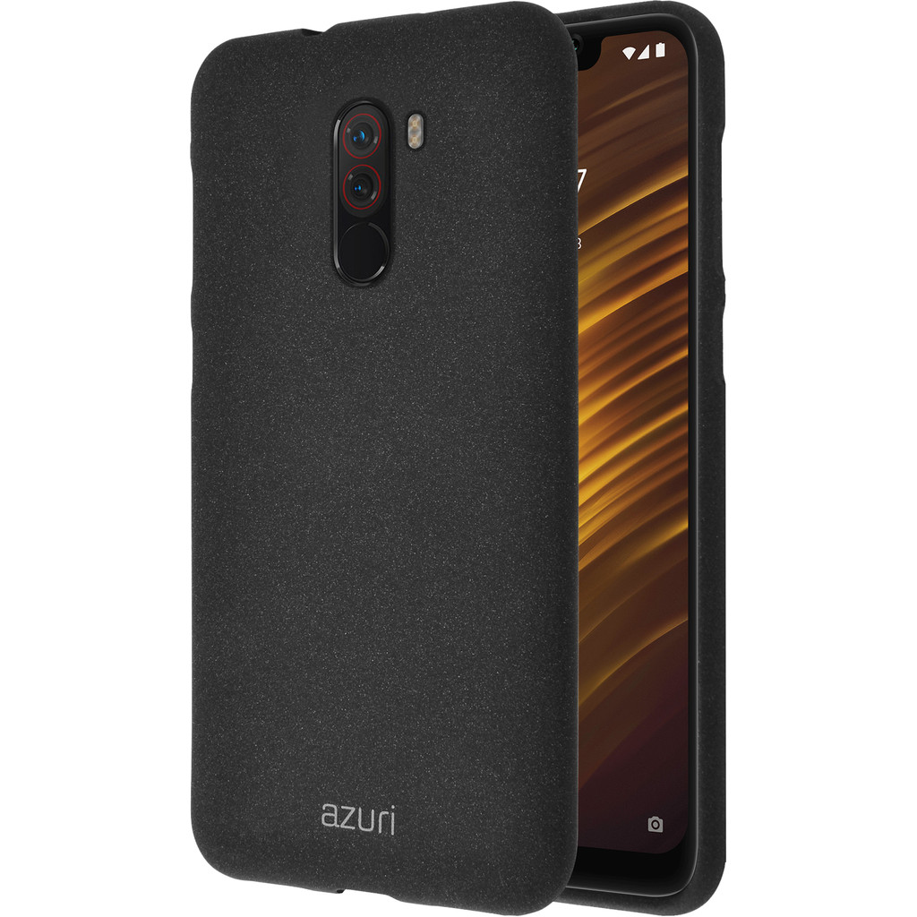 Azuri Flexible Sand Xiaomi Pocophone F1 Back Cover Zwart