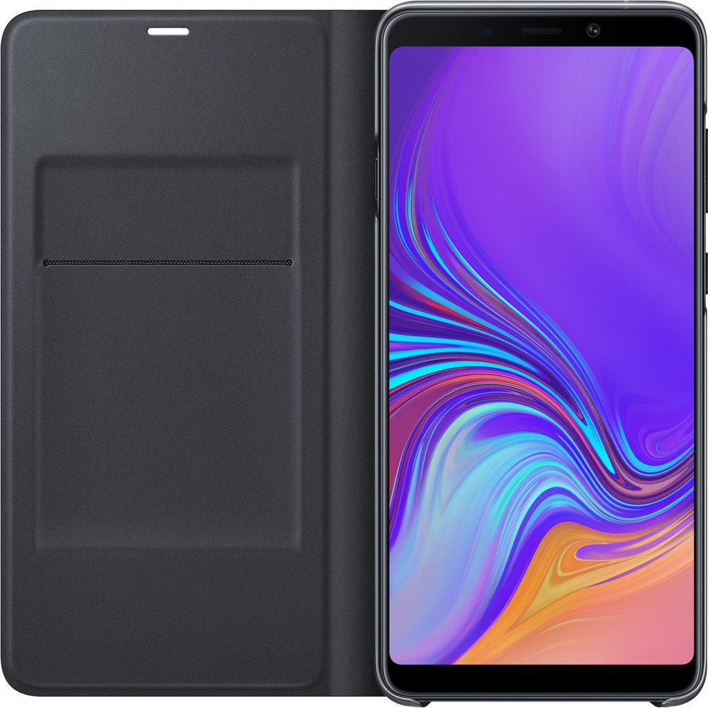 Samsung Galaxy A9 (2018) Wallet Book Case Zwart