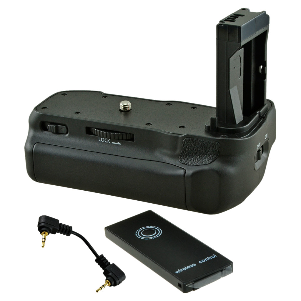 Jupio Battery Grip voor Canon EOS 77D, 800D en 9000D + Cable
