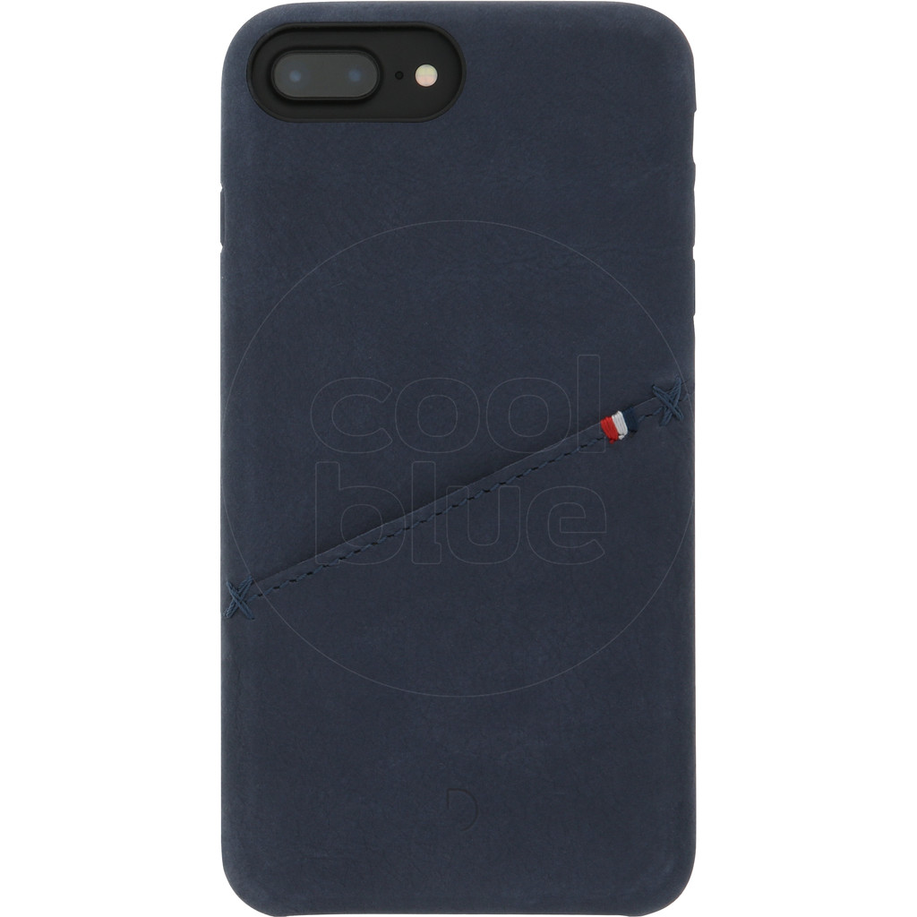 Decoded Leather iPhone 8 Plus / 7 Plus / 6s Plus / 6 Plus Back Cover Blauw