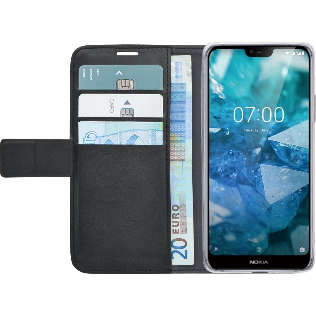 Azuri Wallet Magneet Nokia 7.1 Book Case Zwart