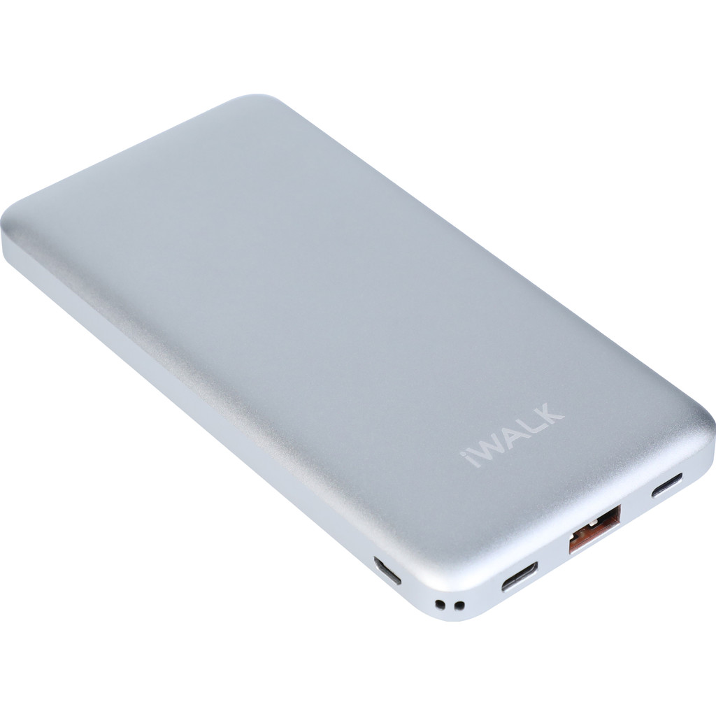 iWalk Chic Powerbank 10.000 mAh met Quick Charge 3.0 + Power Delivery 2.0 Zilver