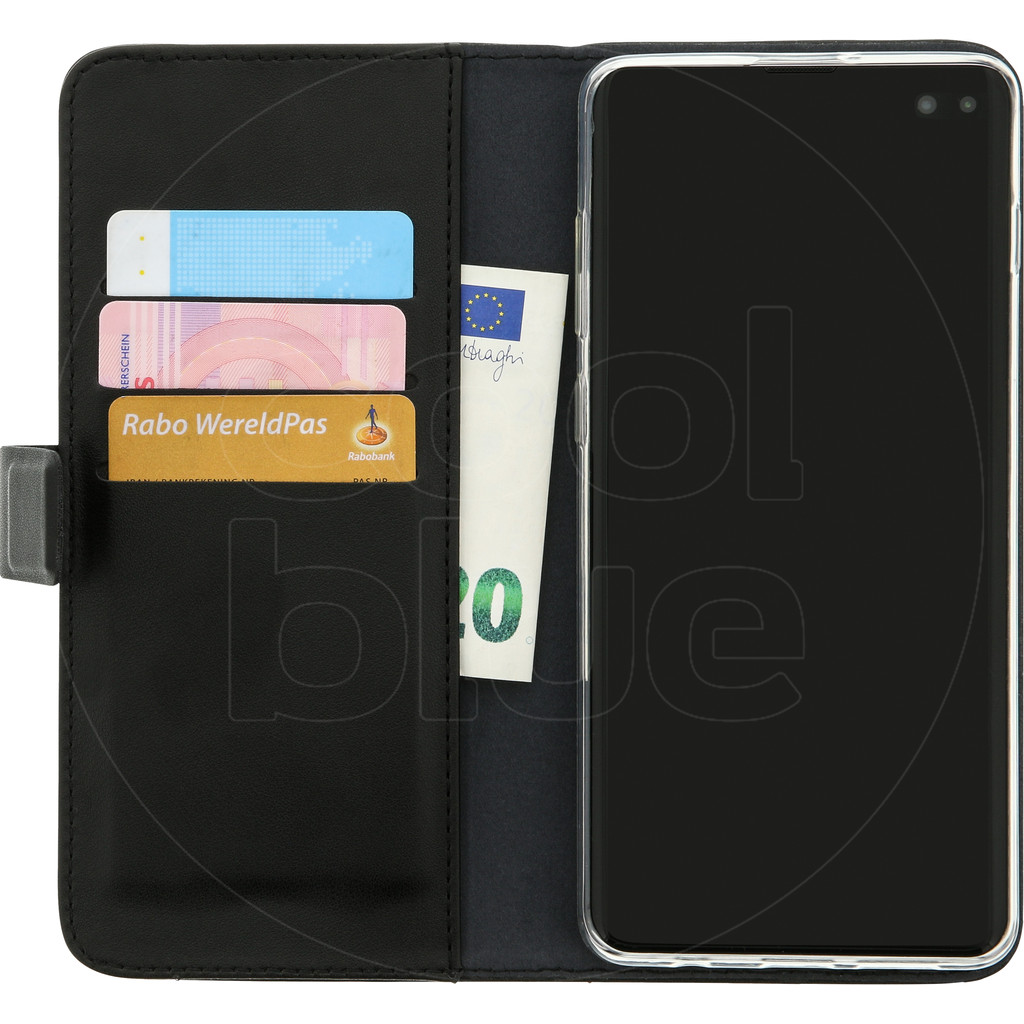 Azuri Wallet Magneet Samsung Galaxy S10 Plus Book Case Zwart